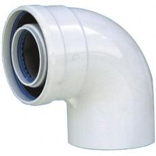 Коаксиальное колено Immergas 90 ° с фланцем 60/100 (не конденсационный) (3.011139)