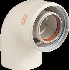 Коаксиальное колено Immergas 90 град 60/100 мм (не конденс.) (IM3.010949)