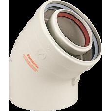 Колено Immergas 45 градусов 80/125 мм конденсационное (71.МТ7.00.79)